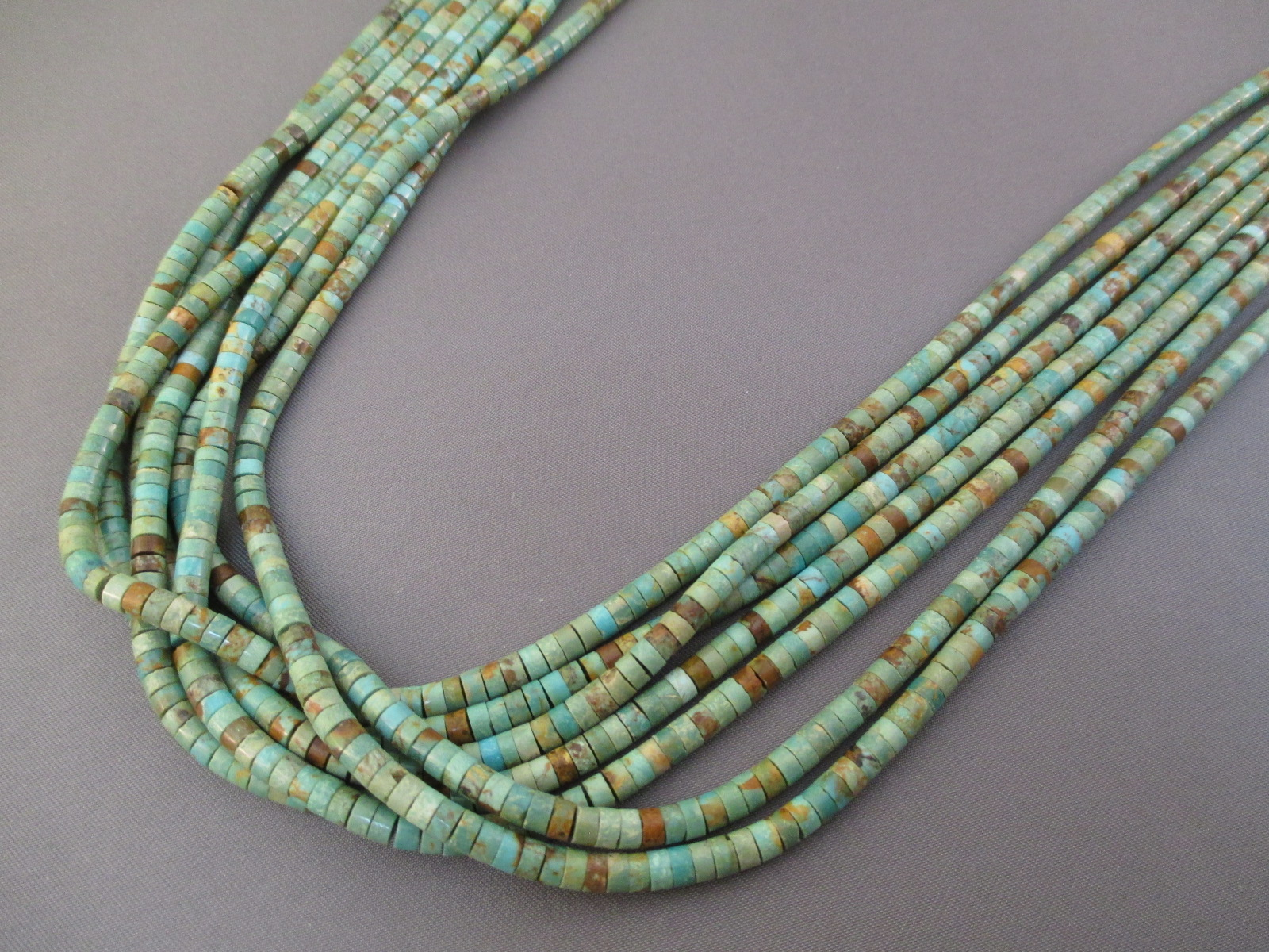 turquoise atencio necklace ten santo domingo heishi strand lita