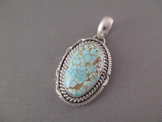 #8 Turquoise Pendant by Artie Yellowhorse