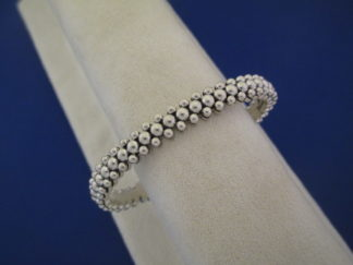 Artie Yellowhorse Sterling Silver Bracelet with Tiny Beads